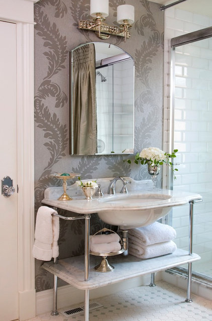 Traditional Bathroom by Chanie Laree Designs