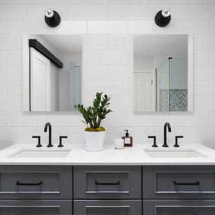Gray + White En Suite