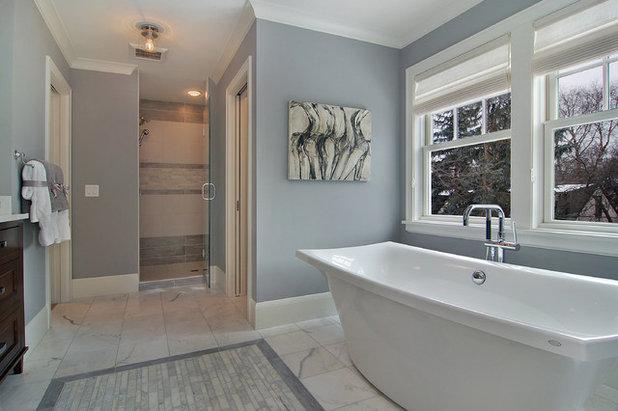 Transitional Bathroom by Great Neighborhood Homes