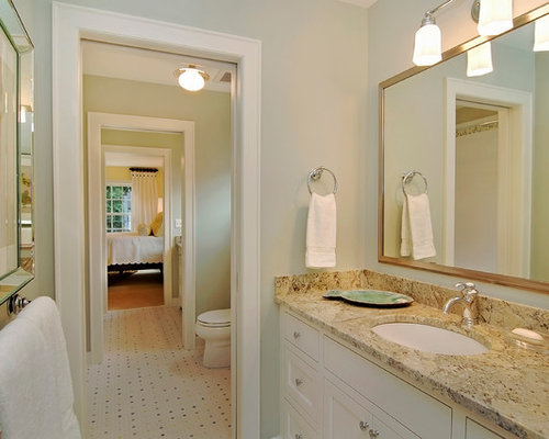 Jack and jill bath home design ideas pictures remodel for Jack and jill bathroom with hall access