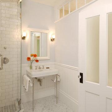 Greek Revival Bath with Transom Windows