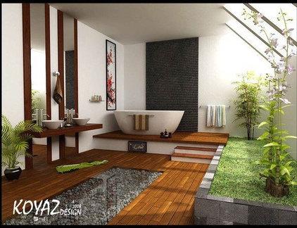 Tropical Bathroom Green Bathroom