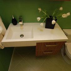 Modern Bathroom by Susan Deneau Interior Design