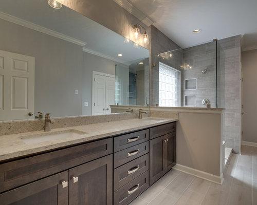 Sala Da Bagno Stile Contemporaneo : Stanza da bagno contemporanea con pavimento in compensato foto