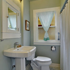 Craftsman Bathroom by Seattle Staged to Sell LLC