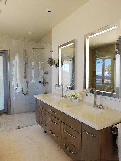 New Contemporary Bathroom by Mahoney Architects u Interiors