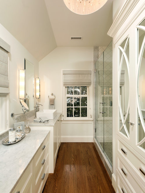 Long narrow bathroom ideas pictures remodel and decor Bathroom design ideas houzz