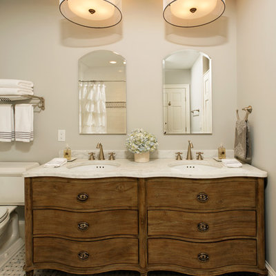 Inspiration for a timeless mosaic tile bathroom remodel in DC Metro