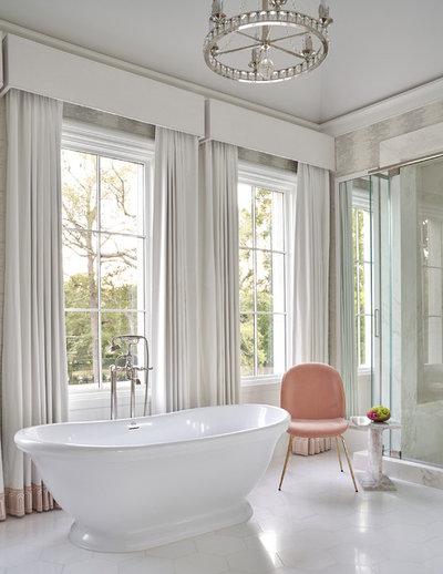Transitional Bathroom by Thompson Custom Homes