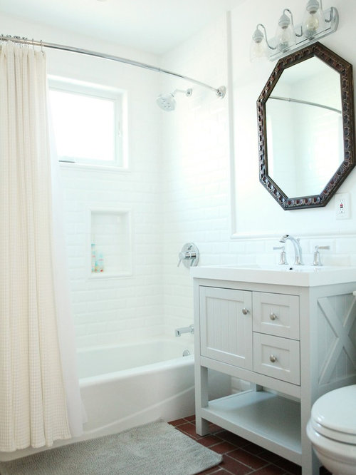 bathroom with an undermount sink shaker cabinets grey cabinets