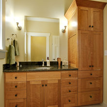 Bathrooms with pantry storage