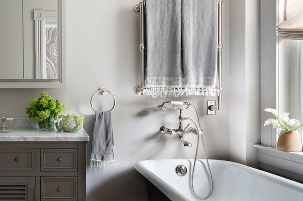 Transitional Bathroom by A.Jennison Interiors