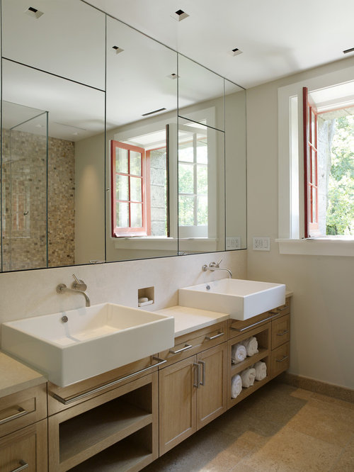 Built In Vanity Cabinet Houzz