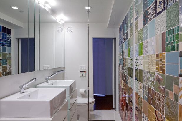 12 astuces gain de place pour optimiser une petite salle - Salle de bain de 8m2 ...