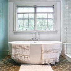 Transitional Bathroom by DeRosa Builders LLC