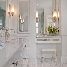 bedroom vanity area