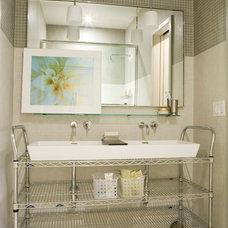 Contemporary Bathroom by Laura Bohn Design Associates