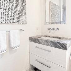 Transitional Bathroom by Antonino Buzzetta Design