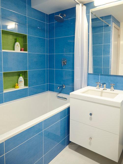 Bathroom Design Ideas Renovations Amp Photos With Blue Tile