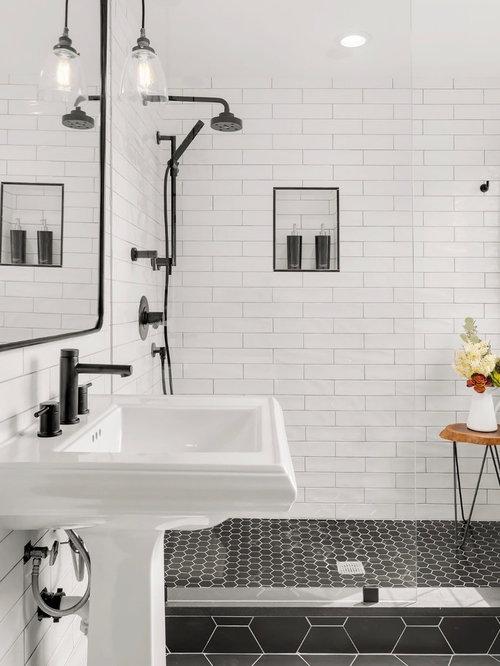 Klassische Badezimmer mit offener Dusche Ideen, Design & Bilder | Houzz