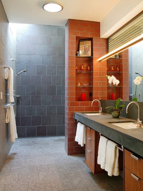 Glassless Shower Home Design Ideas Pictures Remodel And