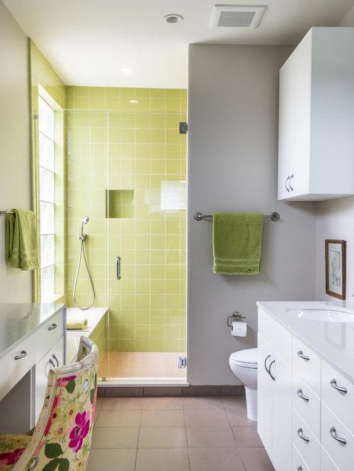 Green Tile Shower | Houzz