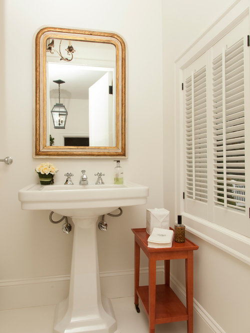 Mirror Pedestal Sink Home Design Ideas, Pictures, Remodel and Decor