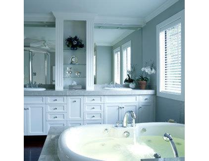Traditional Bathroom Grey and White Bathroom