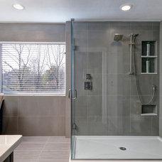 Modern Bathroom by Courtney Burnett