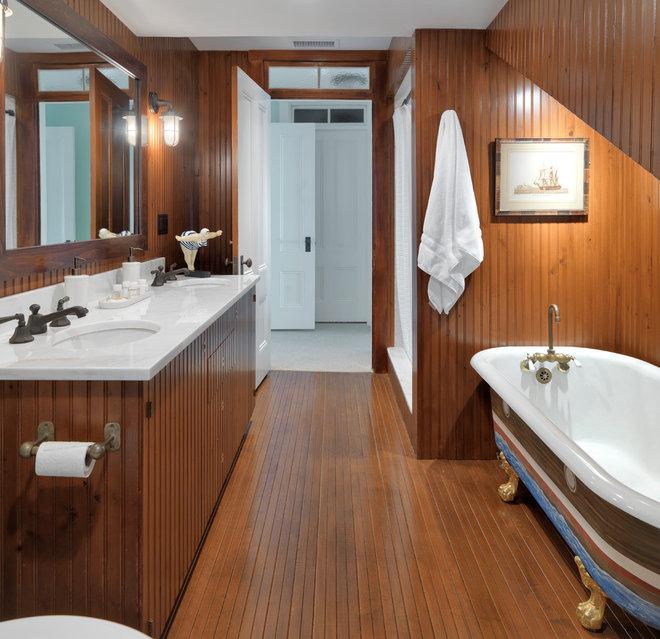 Современный Ванная комната by Kotzen Interiors, LLP