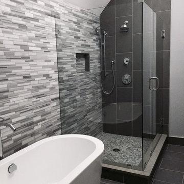 Grey Modern Master Bathroom