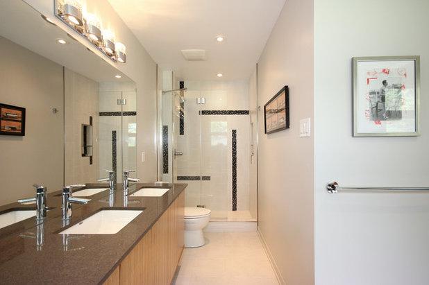 Ideal Modern Bathroom by OakWood Designers u Builders