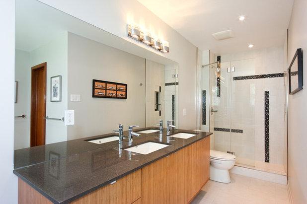 Inspirational Modern Bathroom by OakWood Designers u Builders