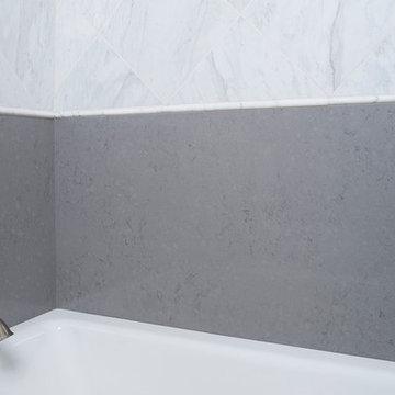 Grigio Nube Della Terra Quartz Collection Bathroom