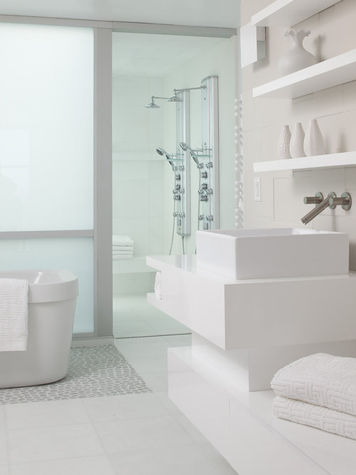 All white bathroom home design ideas pictures remodel for All white bathrooms ideas