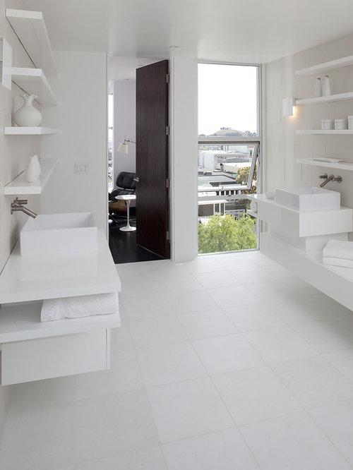 Https Www Houzz Com All White Bathroom