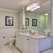 Transitional Bathroom by Natalya Price of Nj Staged 2 Sell