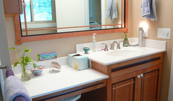Grover bathrooms. Greene & Greene Craftsman style.