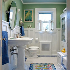 tropical bathroom by Carisa Mahnken Design Guild
