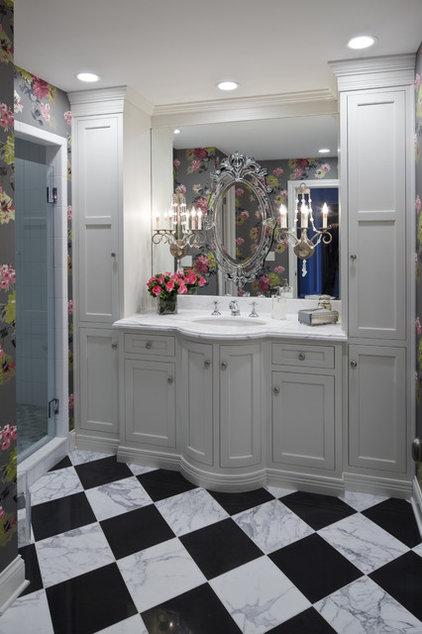 Transitional Bathroom by Hoskins Interior Design
