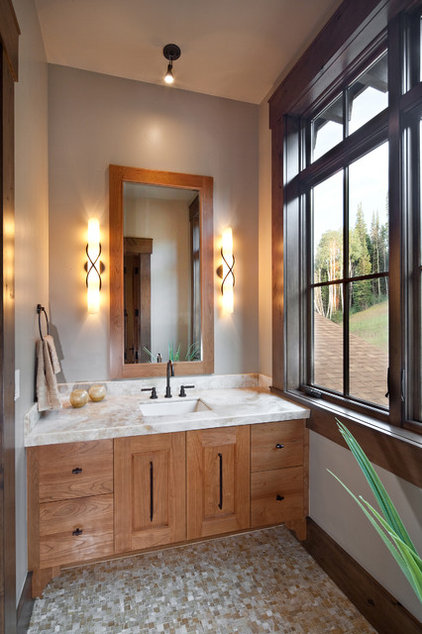 Transitional Bathroom by Jaffa Group Design Build
