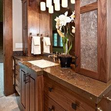 Transitional Bathroom by Jaffa Group Design Build