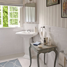 transitional bathroom by Jeneration Interiors