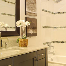 Farmhouse Bathroom by Judith Balis Interiors