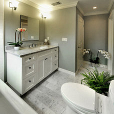 Transitional Bathroom by LA Dwelling