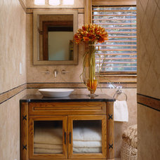 Traditional Bathroom by Sheila Rich Interiors, LLC
