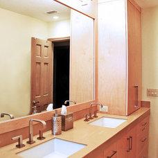Contemporary Bathroom by Kustom Home Design