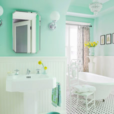 Farmhouse Bathroom by anna forkum