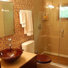 Modern Bathroom Guest bath - warm and modern