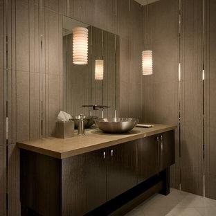Trendy bathroom photo in Phoenix with a vessel sink
